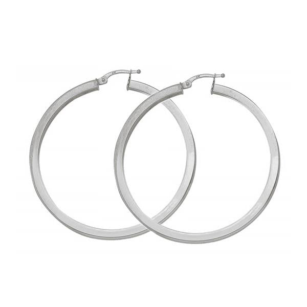 Gold Hoop Earrings 48mm
