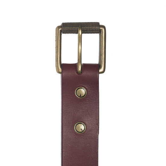 The Bedford Belt in Veg Tanned Leather. Solid Brass Buckle.  Made in the USA
