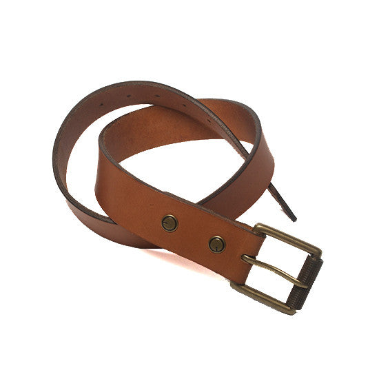 The Bedford Belt in Tan ,Belts- Volume&Tone Guitar Straps & Leather Goods