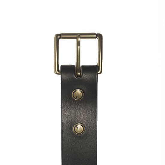 The Classic Belt in Black ,Belts- Volume&Tone Guitar Straps & Leather Goods