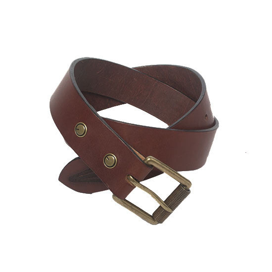 The Bedford Belt  in Oxblood - Volume & Tone - Guitar Straps & Leather Goods