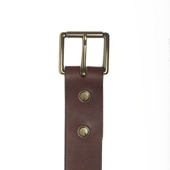 The Classic Belt in Oxblood - Volume & Tone - Guitar Straps & Leather Goods