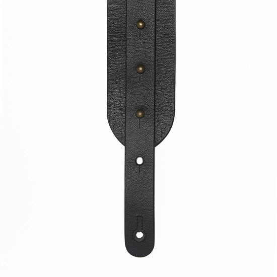 The Signature Guitar Strap - Black Leather