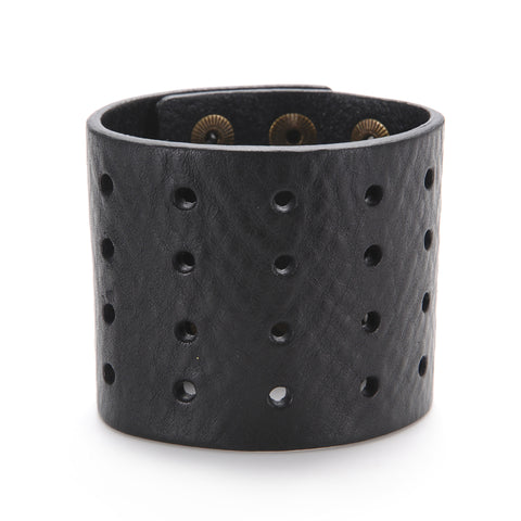 "The ""11"" Cuff with Perforation - Volume & Tone - Guitar Straps & Leather Goods"