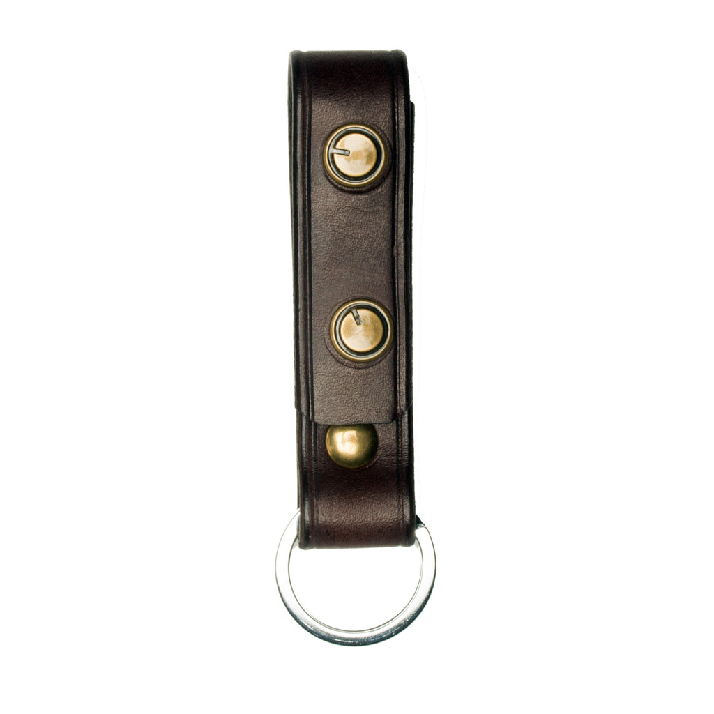 Signature Key Fob- Dark Brown - Volume&Tone Guitar Straps & Leather Goods