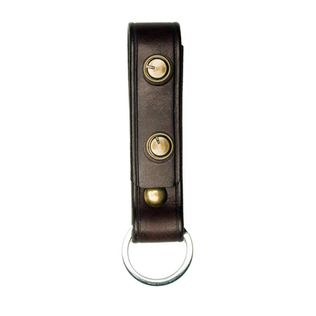 Signature Key Fob- Dark Brown ,Key Fobs- Volume&Tone Guitar Straps & Leather Goods