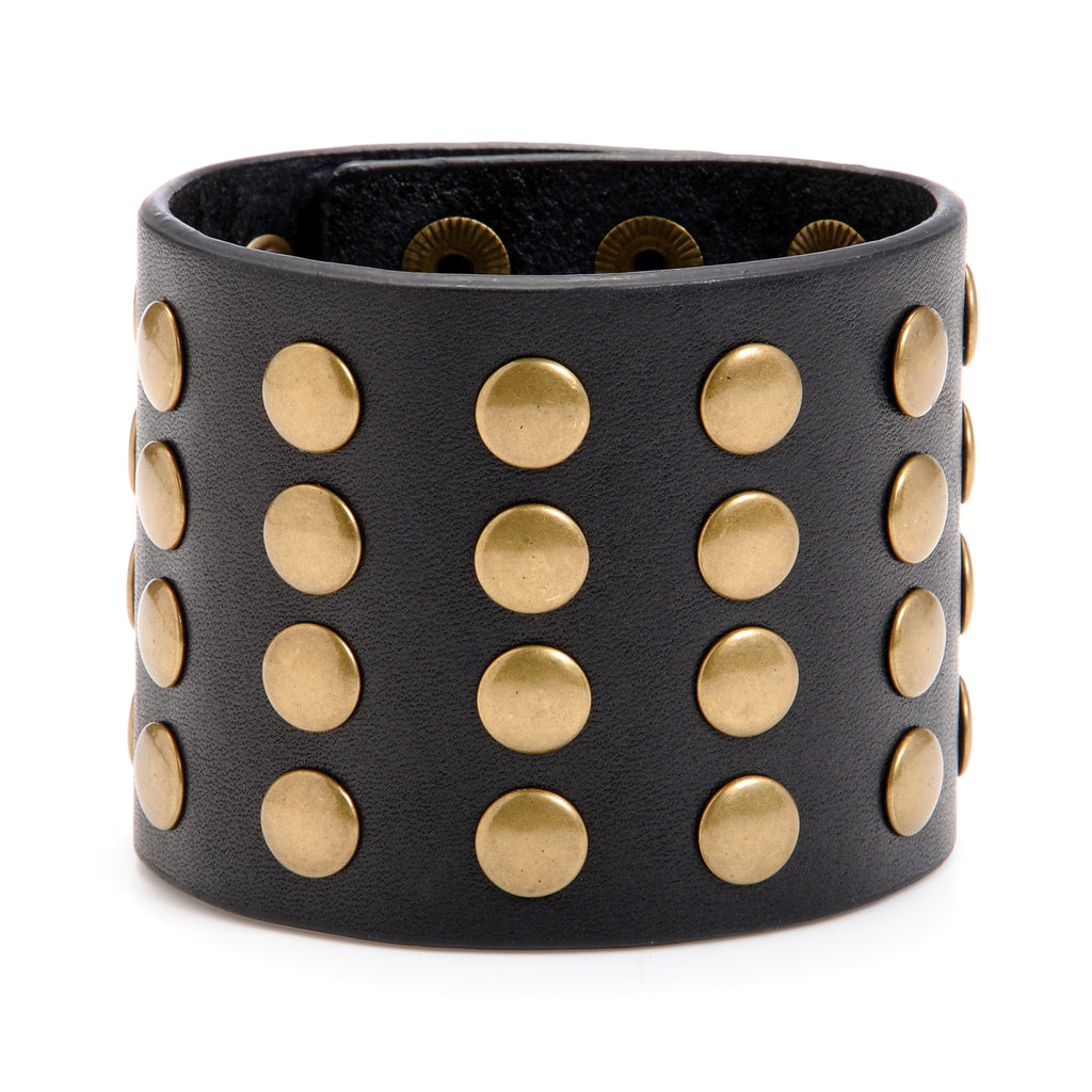 "The ""11"" Cuff with Studs - Volume & Tone - Guitar Straps & Leather Goods"