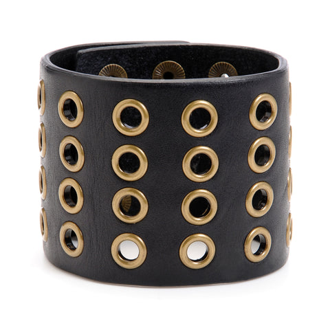 "The ""11"" Cuff with Grommets - Volume&Tone Guitar Straps & Leather Goods"