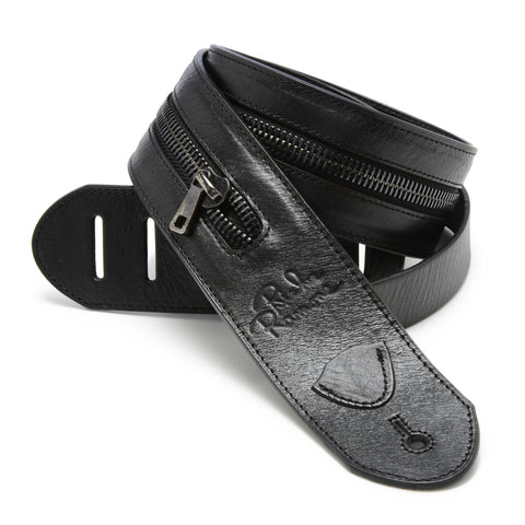 The Ramone Guitar Strap - Black - Volume & Tone - Guitar Straps & Leather Goods