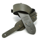 The Signature Guitar Strap - Slate Gray Leather - Volume&Tone Guitar Straps & Leather Goods