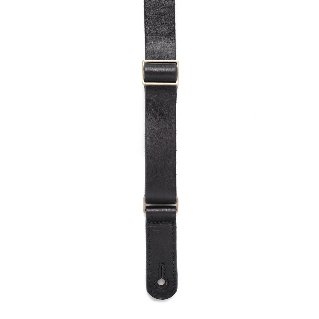 "The Tabb 1"" Guitar Strap - Black leather - Volume&Tone Guitar Straps & Leather Goods"