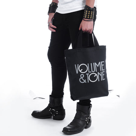 Small Logo Tote Bag ,Tote Bags- Volume&Tone Guitar Straps & Leather Goods