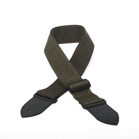 The Logo Vegan Guitar Strap - Army Green - Volume&Tone Guitar Straps & Leather Goods