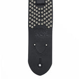 The Standard Guitar Strap Leather with Hammered Studs - Volume&Tone Guitar Straps & Leather Goods