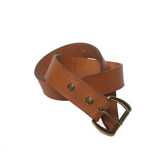 The Ludlow Belt in Tan - Volume&Tone Guitar Straps & Leather Goods
