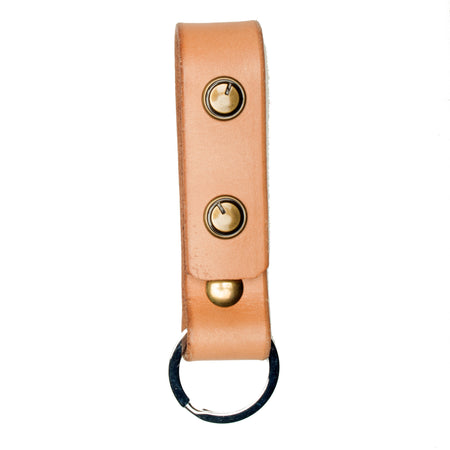 The Signature Key Fob-Natural ,Key Fobs- Volume&Tone Guitar Straps & Leather Goods