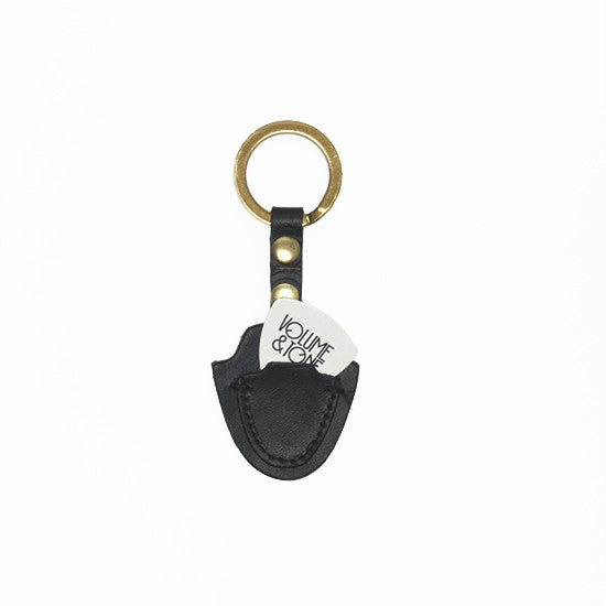 Pick Key Fob-Black ,Key Fobs- Volume&Tone Guitar Straps & Leather Goods
