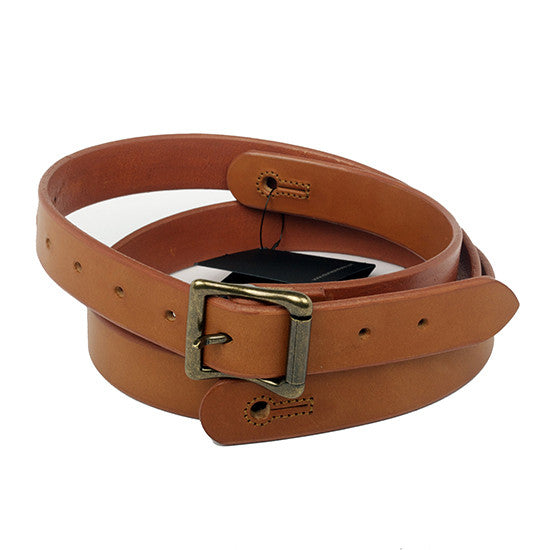 "The Guthrie 1"" Wide Guitar Strap in New Castano Bridle Leather - Volume&Tone Guitar Straps & Leather Goods"