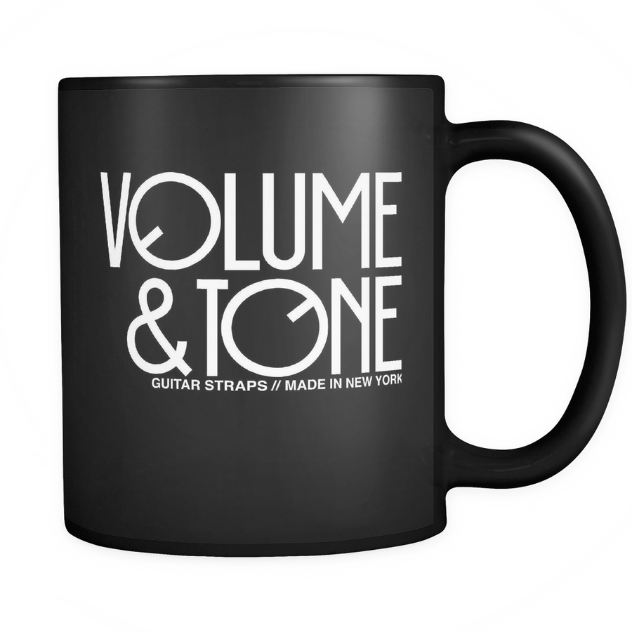 New! Volume & Tone Coffee Mug-Black ,Drinkware- Volume&Tone Guitar Straps & Leather Goods