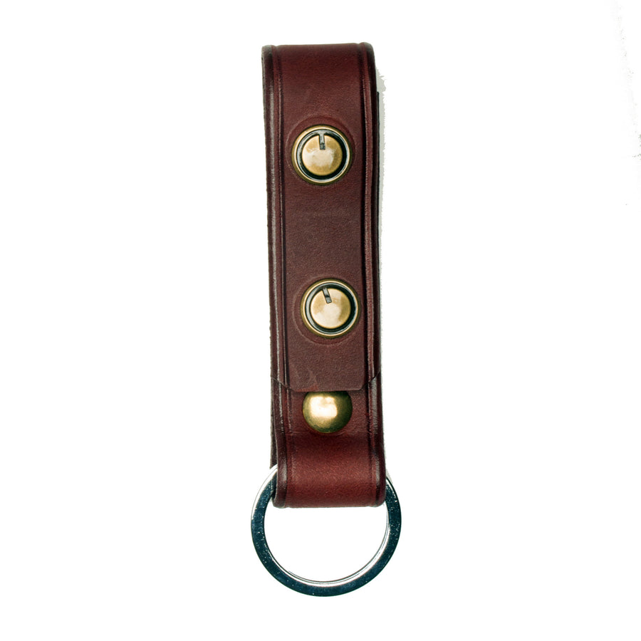 The Signature Key Fob-Oxblood ,Key Fobs- Volume&Tone Guitar Straps & Leather Goods
