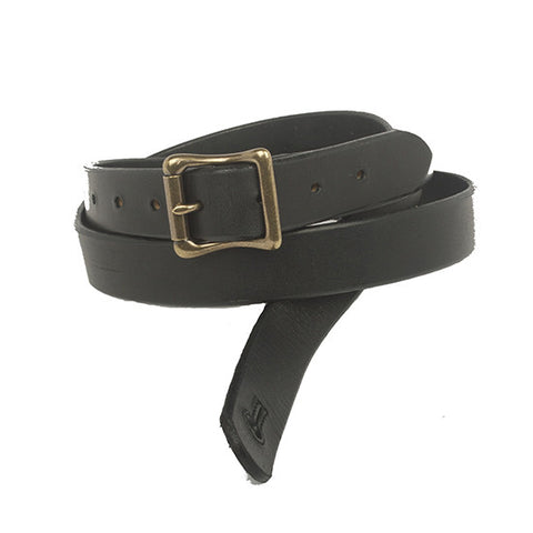 "The Guthrie 1"" Wide  Guitar Strap - Black Bridle Leather - Volume & Tone - Guitar Straps & Leather Goods"