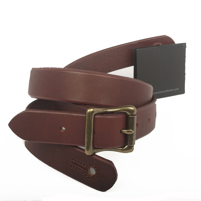 "The Guthrie 1"" Wide Guitar Strap - Oxblood Bridle Leather - Volume&Tone Guitar Straps & Leather Goods"