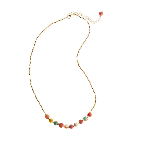 Simple Sari Bead Necklace