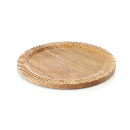 Round Carved Mango Tray