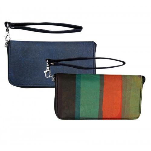 Classic Stripe Recycled Plastic Vicky Wristlet