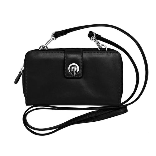 Black Smartphone Crossbody Wallet