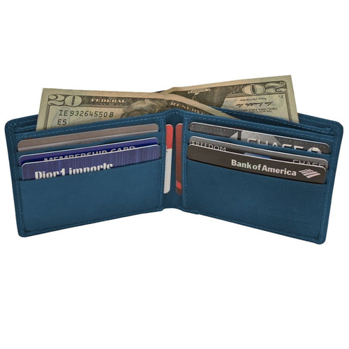 RFID Bifold Men's Wallet with Back Slit