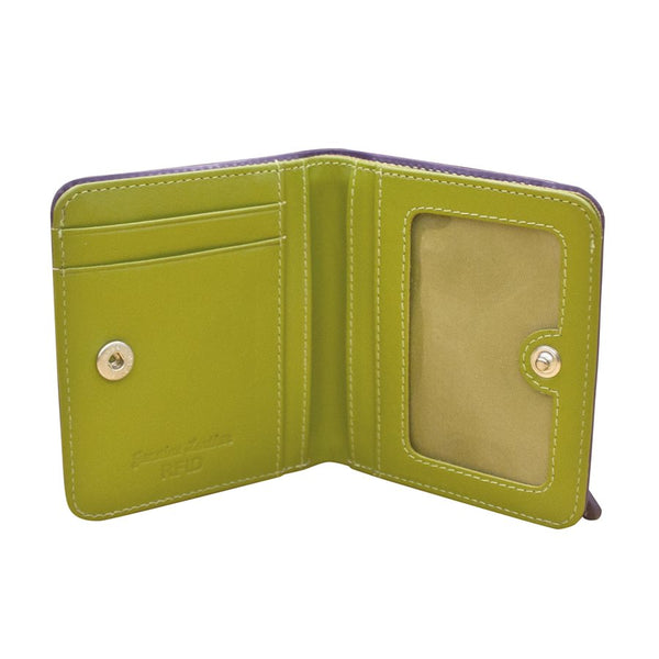 Two Toned RFB Bi Fold Mini Wallet