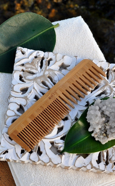 Bamboo Rectangular Hairbrush with Bamboo Brush Pins