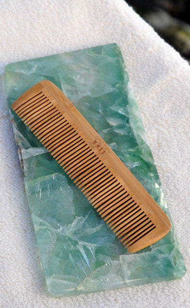Bamboo Combination Tooth Comb