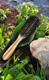 Bamboo Hairbrush with Natural Wild Boar Bristles