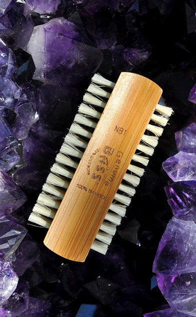X-Small Round Boar Bristle Styling Brush with Bamboo Handle