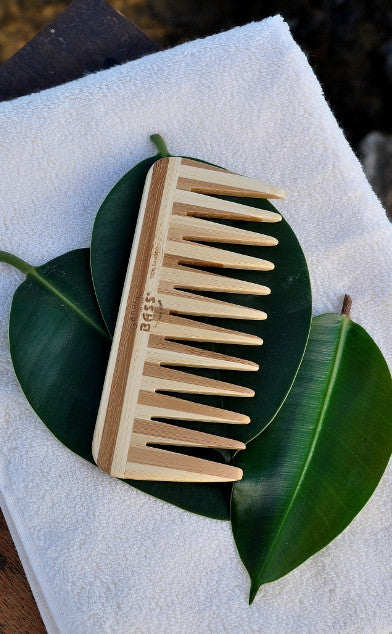 Bamboo Oval Hairbrush with Bamboo Brush Pins