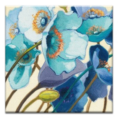 Blue Poppy All Occassion Canvas Art Card