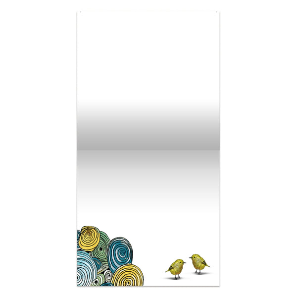 Elephant and Yellow Birds All Occassion Canvas Art Card
