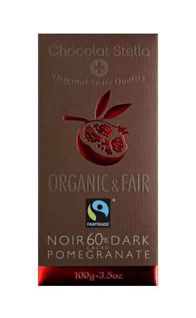 Fair Trade Certified Organic Dark Swiss Chocolate with Pomegranate