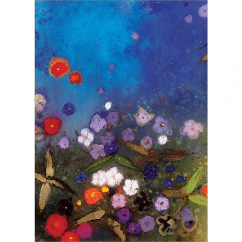 Glowing Garden Sympathy Greeting Card