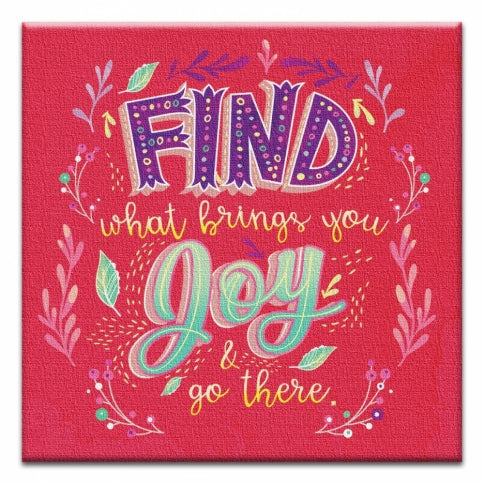 What Brings You Joy Encouragement Canvas Art Card