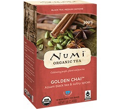 Fair Trade Organic Numi Golden Chai Tea