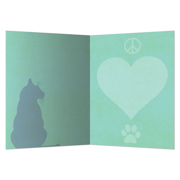 Peace Love Cat All Occassion Greeting Card