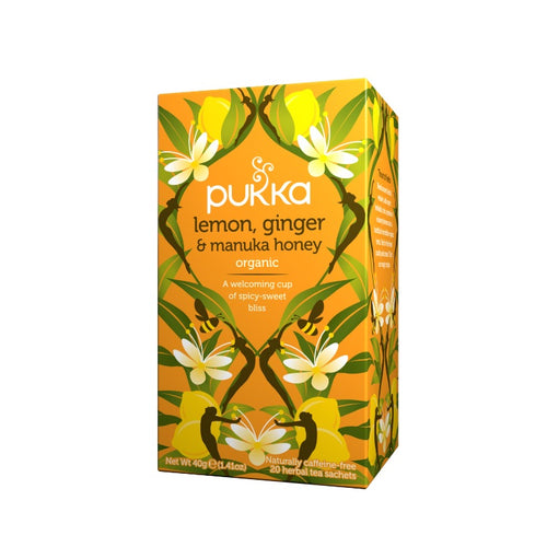 Fair Trade Organic Pukka Lemon, Ginger & Manuka Honey Tea