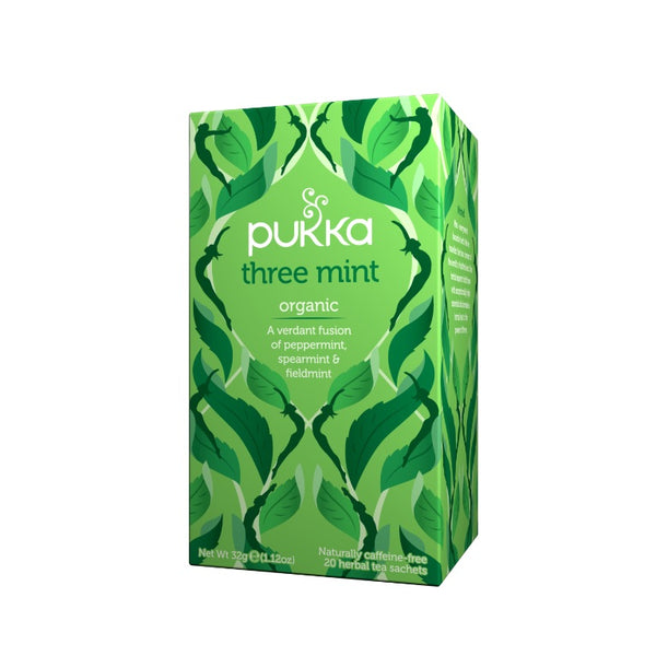 Fair Trade Organic Pukka Three Mint Tea