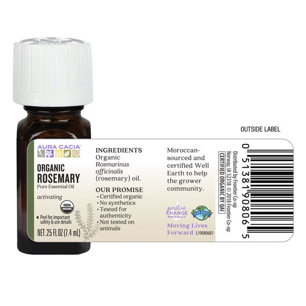Organic Rosemary Essential Oil 0.25 fl. oz.