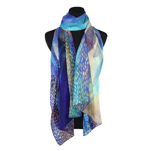 Krystal Dots & Feather Scarf