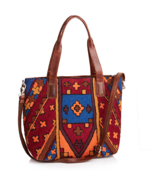 Colorful Crewelwork Bag