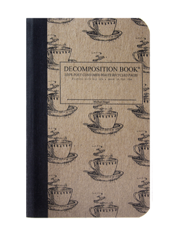 Coffee Cup Decomposition Pocket Sized Notebook